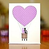 Heart hot air balloon ($4)