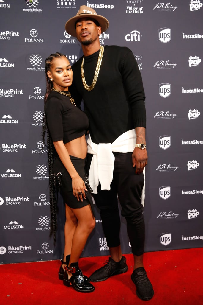 """We know that New York Fashion Week is supposed to be all about the clothes, but we couldn't take our eyes off of Teyana Taylor and her fiancé, basketball player Iman Shumpert, on Monday. The singer (and """"Fade"""" dancer) put her now-famous rock-hard abs on display while wearing a black crop top and skirt, and honestly it's hard to look away. Are they literally made of steel or what? After the couple posed for a few cute photos together on the red carpet, they headed inside to see the Globe Fashion Week X China Moment fashion show, where Teyana enjoyed the clothes so much she snapped a few pictures herself as models made their way down the runway. Thanks to Teyana's insane body, we wouldn't be surprised if her latest outing inspires another wave of envious (and hilarious) tweets (we're already coming up with a few ourselves)."""