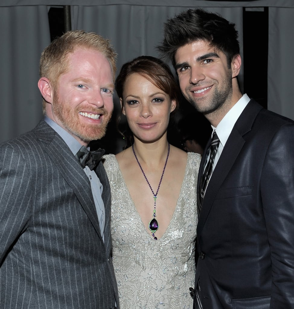 Bérénice Bejo got comfortable between Jesse Tyler Ferguson and Justin Mikita at the Weinstein Company's SAG Awards after party.