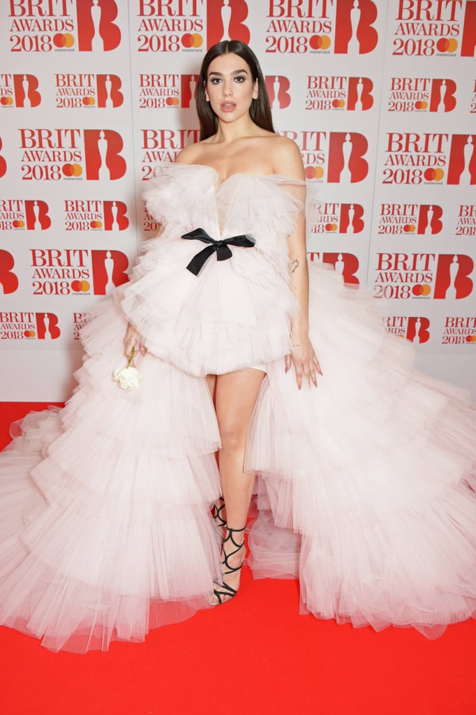 Dua Lipa in Giambattista Valli at the Brit Awards 2018