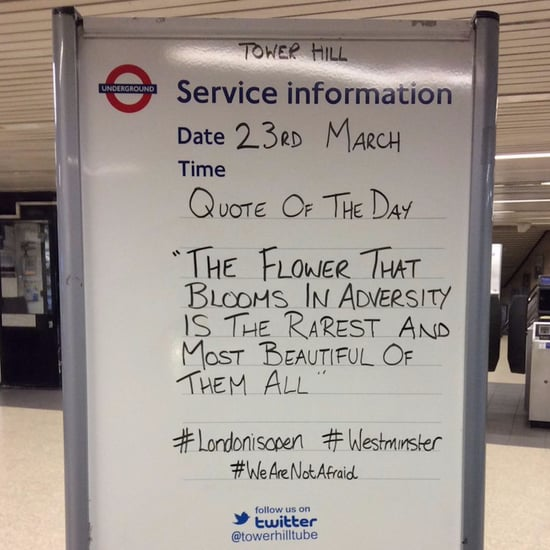 Inspiring Signs in London Tube After Terrorist Attack