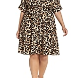 Eliza J Leopard Print Shirtdress