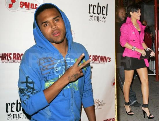 Rihanna Helps Boyfriend Chris Brown Celebrate His 19th Birthday in NYC