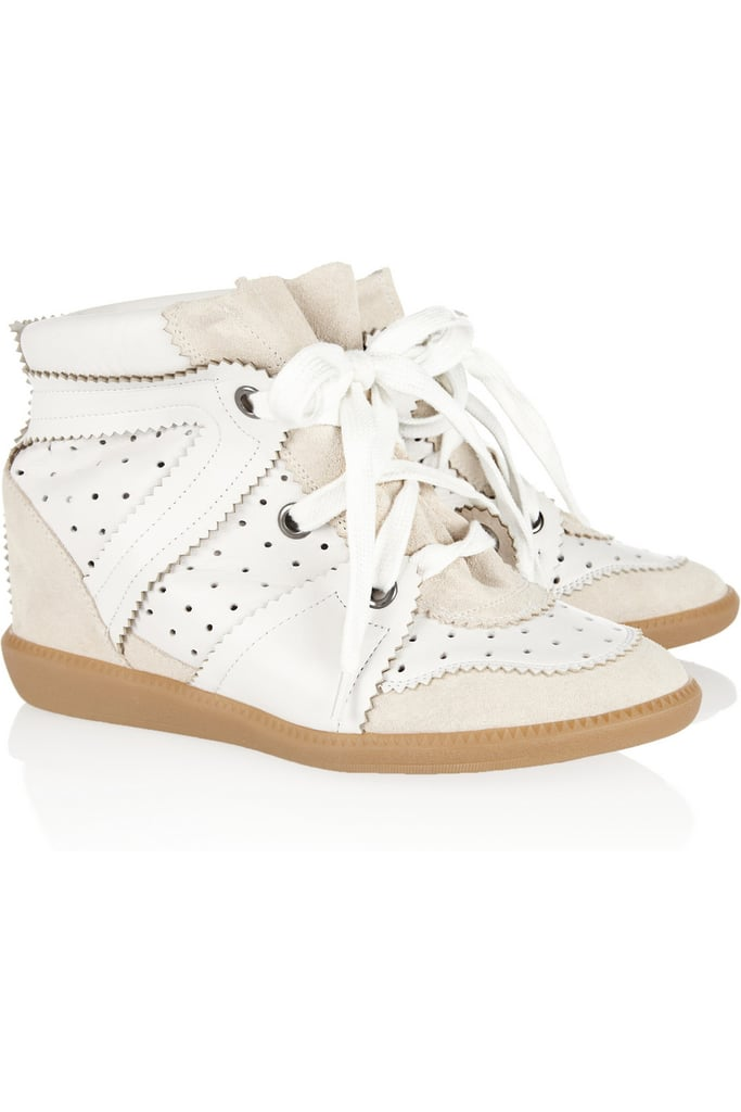 OK, I'm still not over the sneaker thing. This year, I really just want Santa (or someone really, really sweet) to bring me a pair of these Isabel Marant Betty Leather and Suede Wedge Sneakers ($665) — size 8, please!