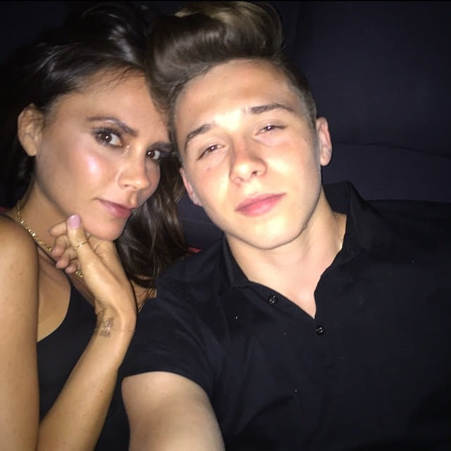 Brooklyn shared a cute Instagram snap of himself and his mom during their trip to Morocco in May 2015.