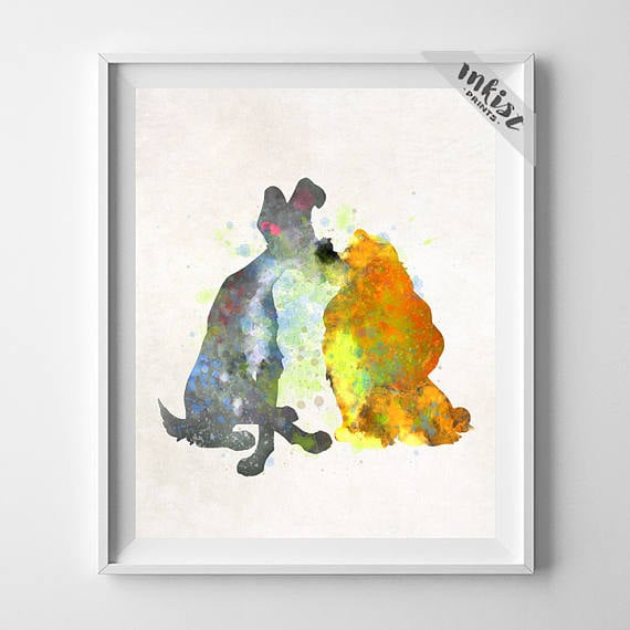 Lady and the Tramp Disney Print