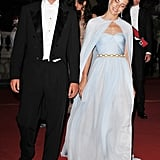 Pierre Casiraghi and his sister Charlotte Casiraghi attend a dinner after their uncle's wedding.