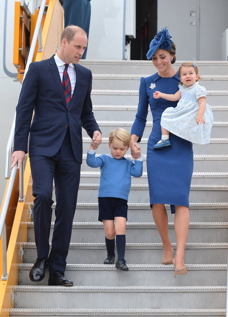 They went against royal protocol yet again when they they packed up George and Charlotte for their Canada trip in 2016.