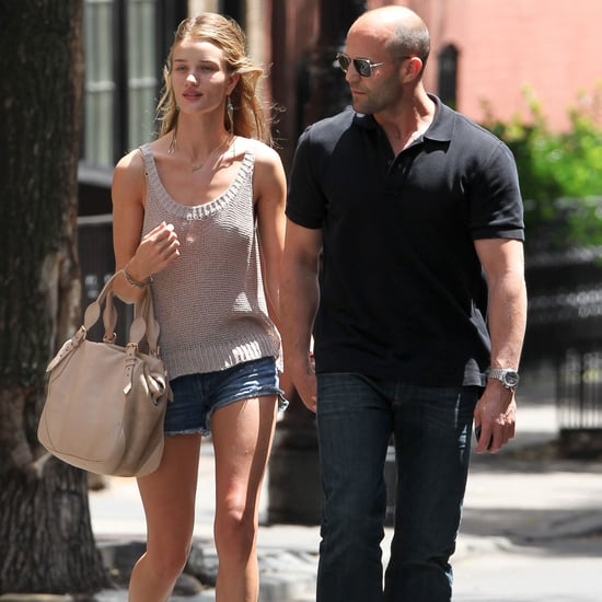 Rosie Huntington-Whiteley With Jason Statham in NYC