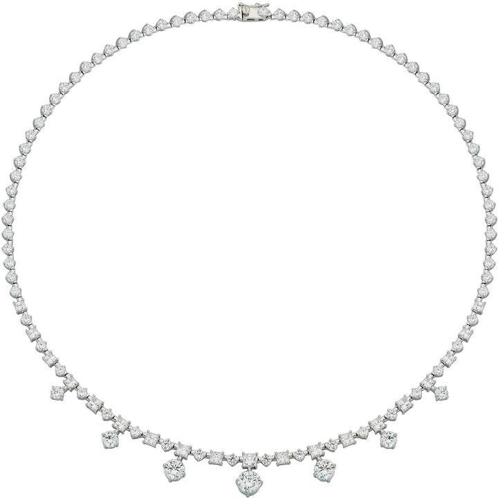Fine Jewelry DiamonArt Cubic Zirconia Sterling Silver Drops Necklace ($625)