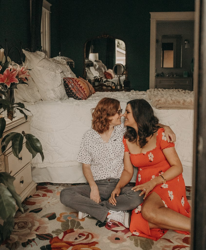 Couple's Intimate At-Home Engagement Photo Shoot