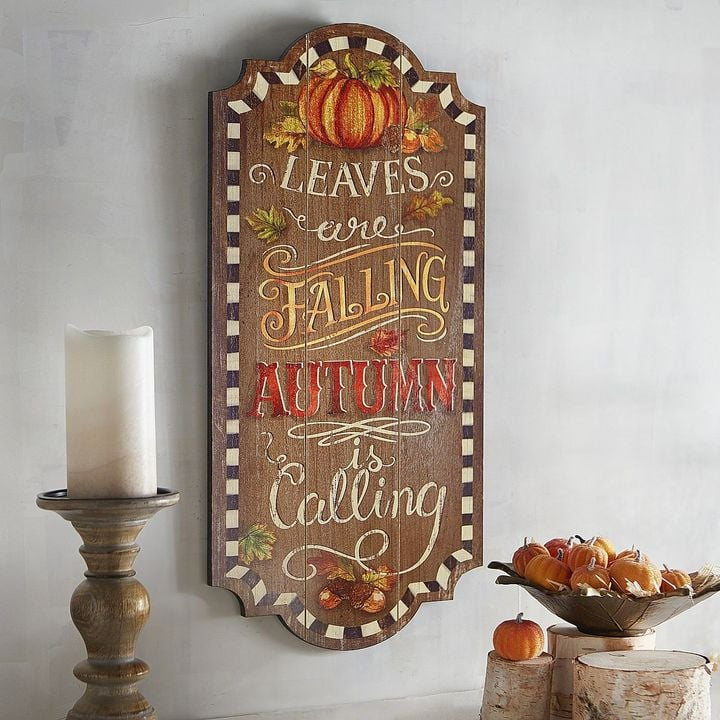 Pier 1 Imports Leaves Are Falling Wall Decor