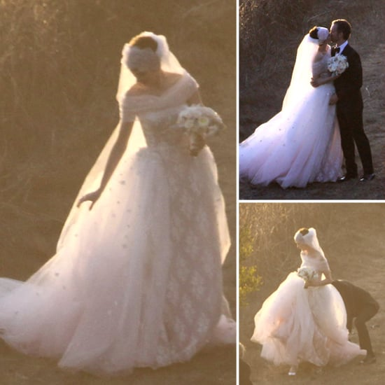 Anne Hathaway Valentino Wedding Dress
