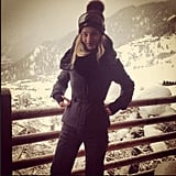 Rosie Huntington-Whiteley shared a photo from the slopes. Source: Instagram user rosiehw