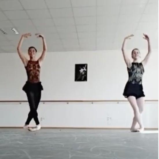 "Watch This Fun ""Don't Start Now"" Ballet Routine"