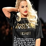 Rita Ora at Moschino