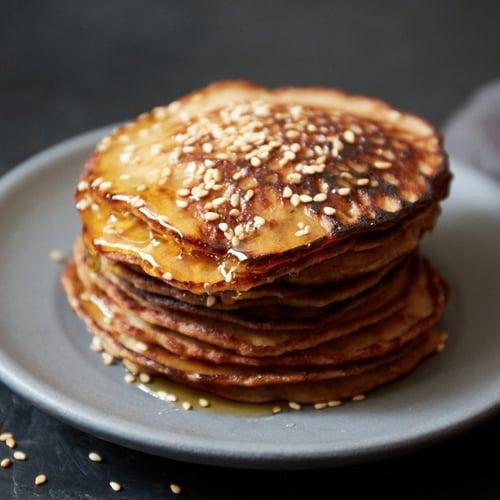 Tahini Banana Paleo Pancakes