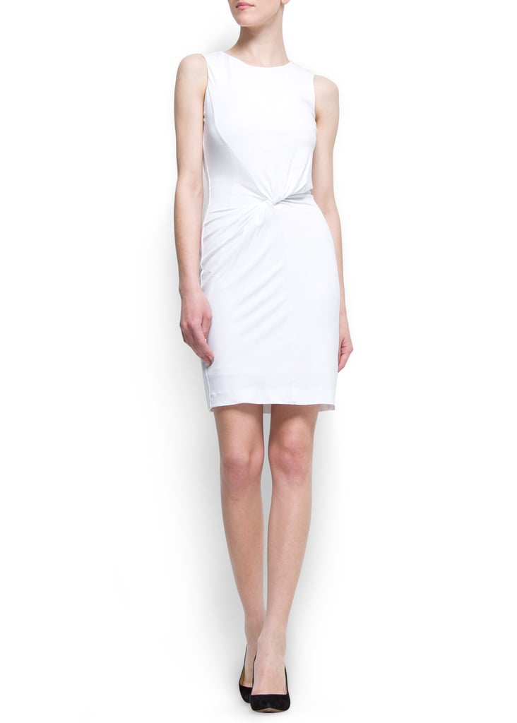 If you're planning to wear white for the wedding rehearsal, opt for something clean and crisp like this chic knotted frock — you can perk it up with bright heels or stick to a classic pair of nude or black pumps.  Mango Julita Dress ($80)