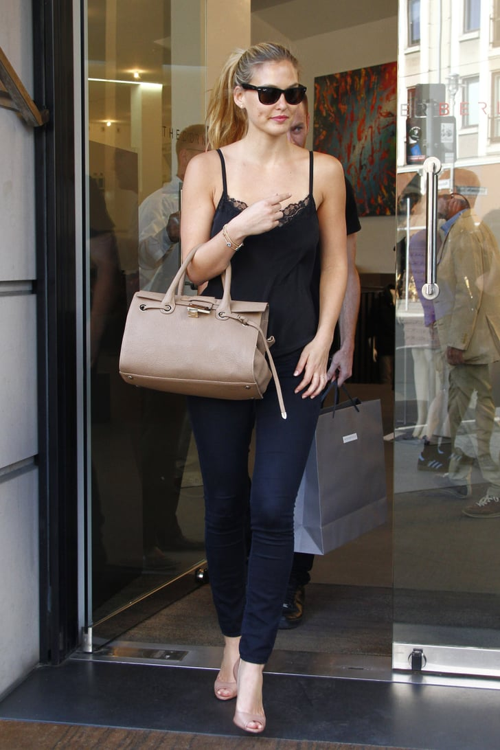 Bar Refaeli Stops to Shop Between Escada Interviews