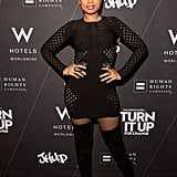 Jennifer Hudson struck a pose at for a good cause at her Turn It Up For Change charity event, which benefits the Human Rights Campaign, in Chicago on Wednesday.