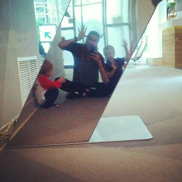 Kerri Walsh got goofy with her kids.  Source: Twitter user kerrileewalsh