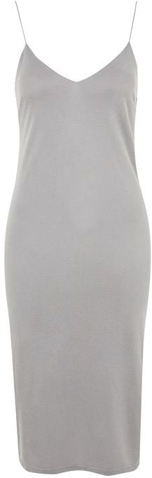 You can always use another layerable slip dress ($50) like this gray one.