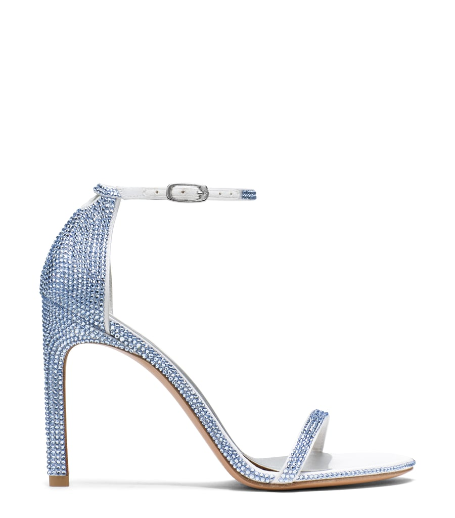 Nudistsong Sandal in Pavé Crystals Light Sapphire ($2,200)