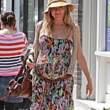 Sienna Miller was all smiles as she spent the day in Primrose Hill.