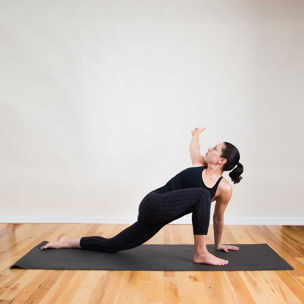 To Stretch: Open Revolved Side Angle