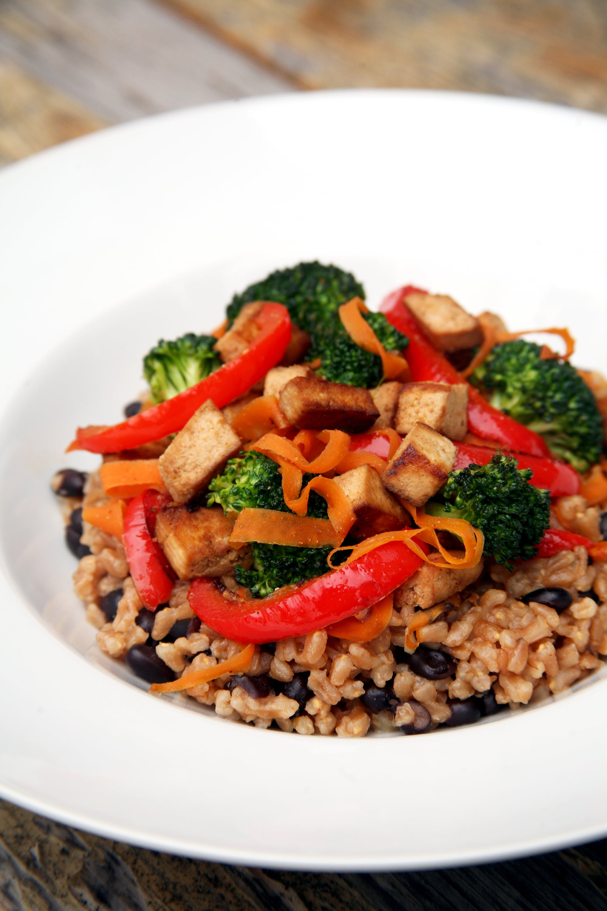 Tofu and Farro Stir Fry