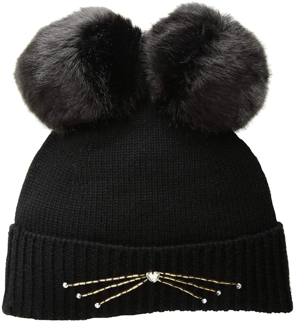 eec4e123668 Kate Spade New York Women s Embellished Cat Beanie Hat