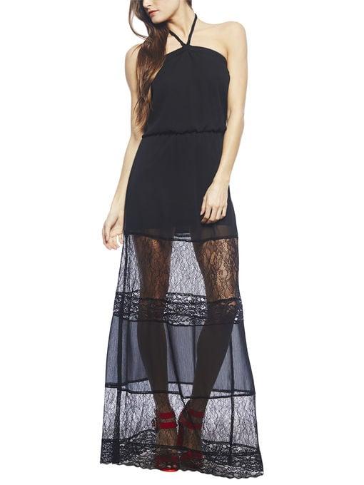 Arden B. Black Sheer Lace Halter-Neck Dress ($89)