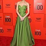 Brie Larson Green Prada Dress Time Gala April 2019