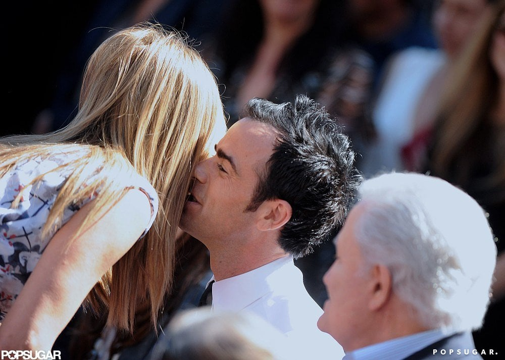 Justin planted a smooch on Jen during her Walk of Fame ceremony in LA in February 2012.