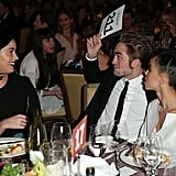 Rob made Katy laugh at the 2015 GO Campaign Gala.