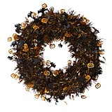 Halloween Tinsel Wreath ($4)