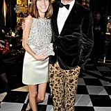 Alexa Chung and Giles Deacon were a trendy pair in leopard and sparkles.