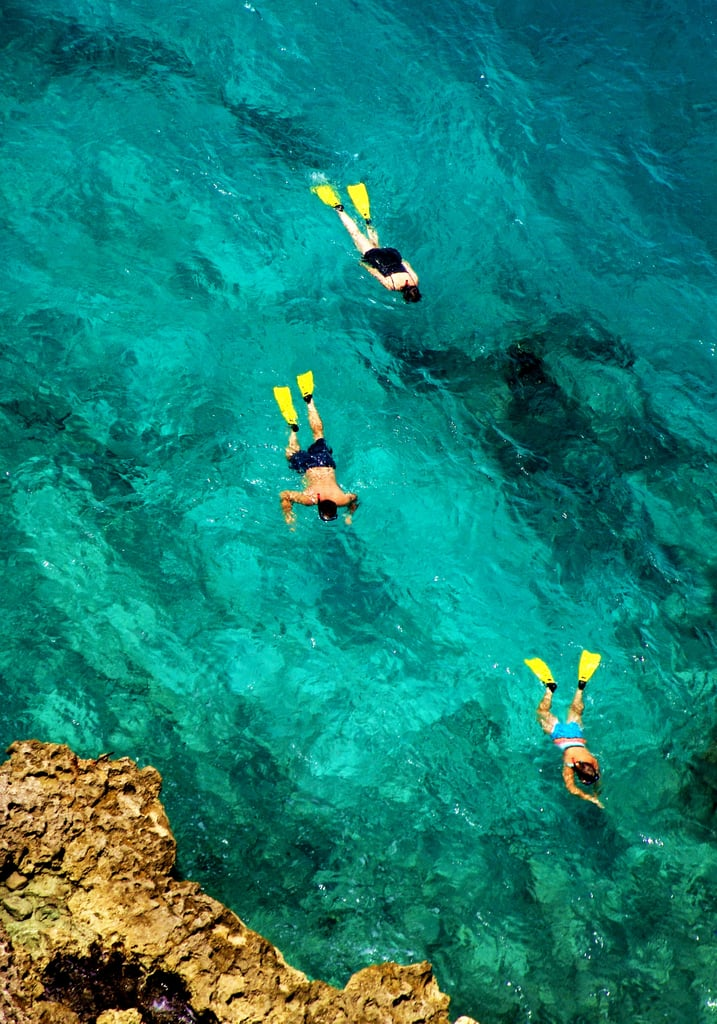 The snorkeling is amazing.