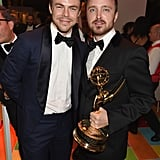 Derek Hough and Aaron Paul partied at HBO.