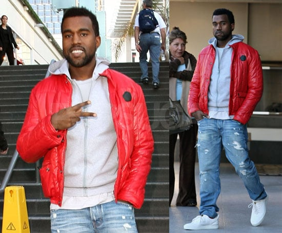Photos of Kanye West in LA Talking About New Years and Discussing Rumors