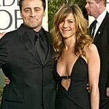 Jennifer and Matt LeBlanc met up on the red carpet at the Golden Globes in January 2004.