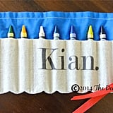 Personalized Crayon Storage Roll