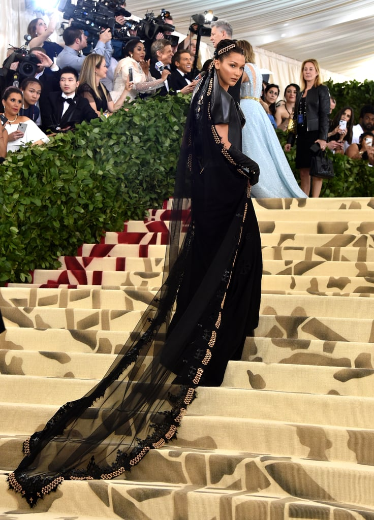Bella Hadid Black Sheer Cape Met gala 2018