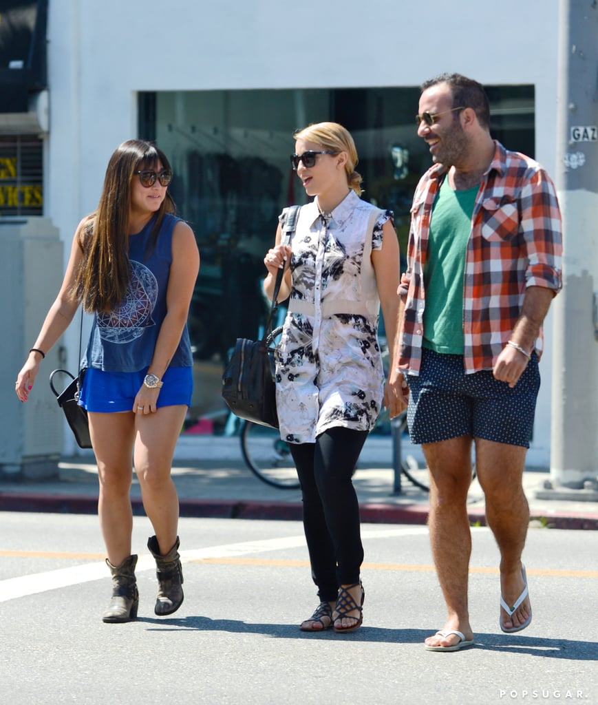Dianna Agron and Jenna Ushkowitz were joined by a friend for brunch.