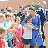 Kate Middleton Hugging Kids in Germany July 2017