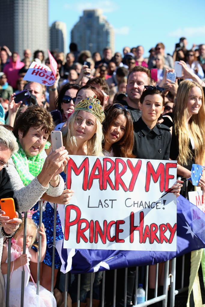 Last chance? Something tells us this woman might be about to marry