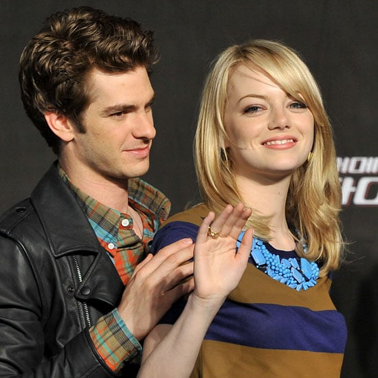 Emma Stone And Andrew Garfield Show PDA At A Photocall In Seoul