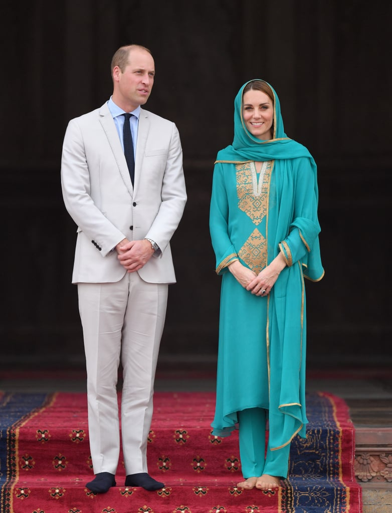 Prince William and Kate Middleton at the Badshahi Mosque in Pakistan