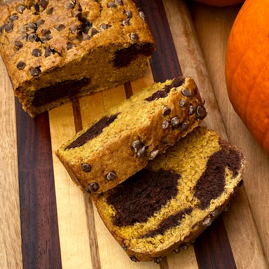 Vegan Chocolate Marbled Pumpkin Protein Bread
