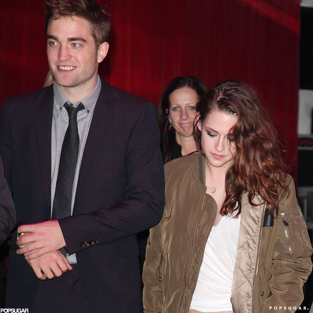 Robert Pattinson wore a suit while Kristen Stewart changed into casual attire.